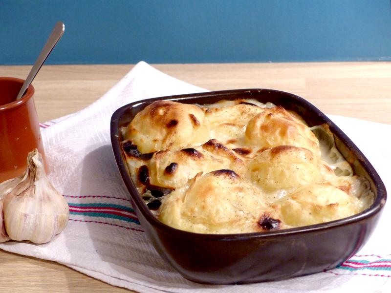 Pommes de terre à la crème d'ail