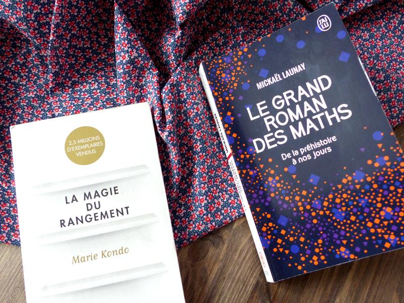 Bilan lecture : la magie du rangement et le grand roman des maths