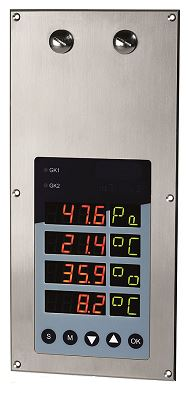 Clean Room Monitor for Air Differential Pressure, Temperature and Humidity - PMDS4