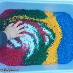 Colored rice at 22 months