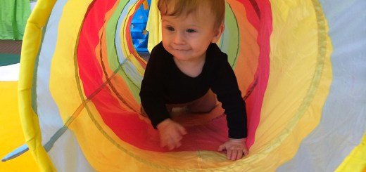 Josh in a tunnel