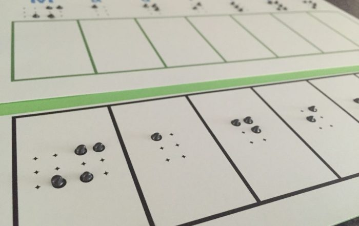 print and braille worksheet
