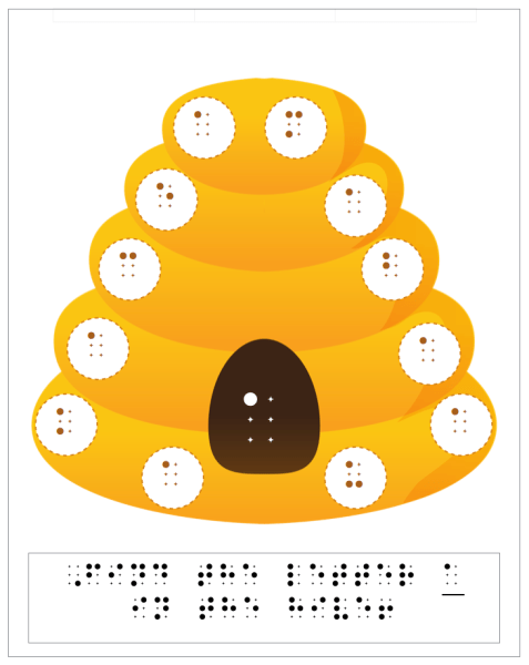beehive letter a braille worksheet