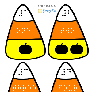 candy corn puzzles with braille