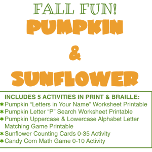 Fall Fun! Pumpkin and Sunflower Activities