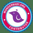 purple bird logo in circle center WonderBaby.org Contributor