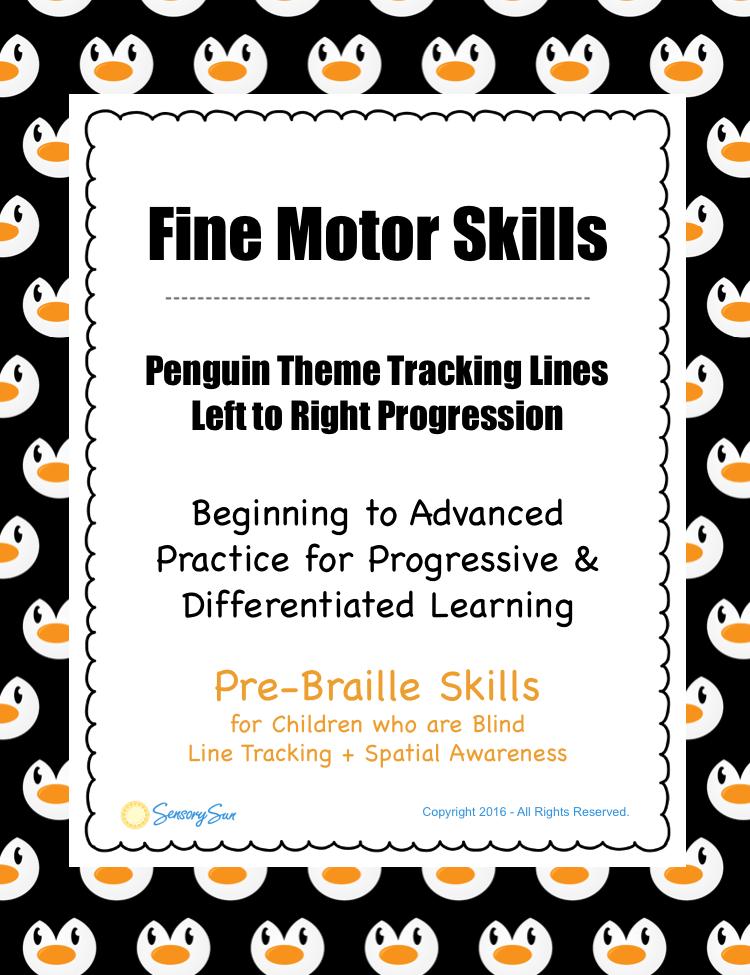 penguin line tracking activity info sheet pinterest image