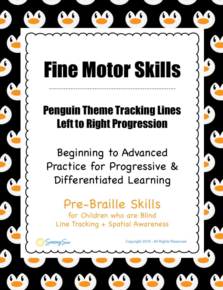 penguin line tracking activity info sheet pinterest image
