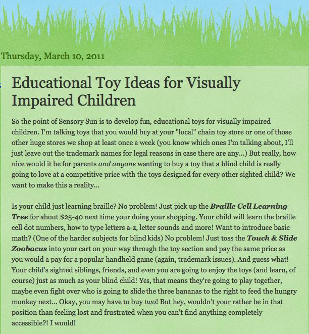 screenshot of original blog post