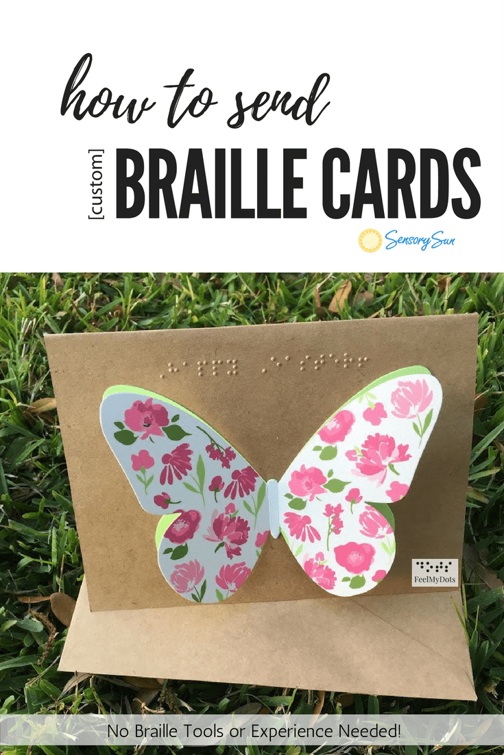 how to send custom braille cards pin