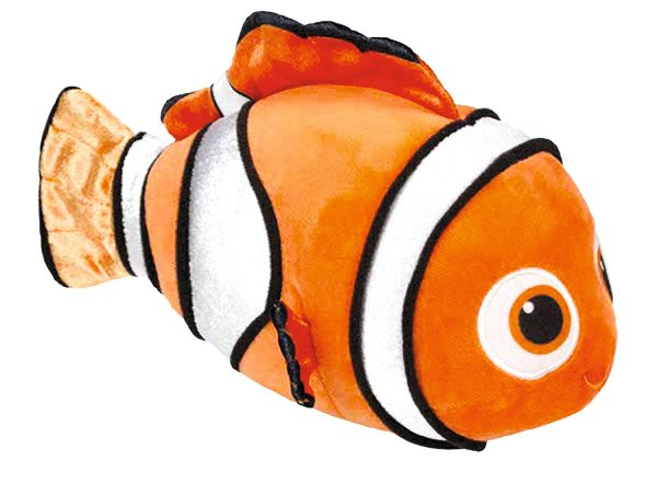 orange and white clownfish plush toy