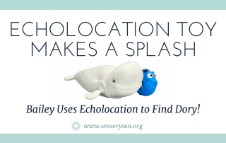 echolocation toy whale and fish