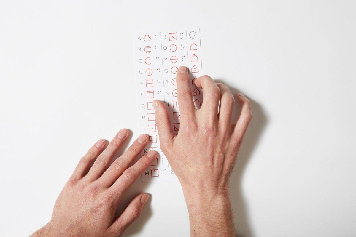 reading alphabet cards ELIA alternative to braille