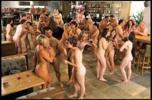 Swingers at a club in Europe