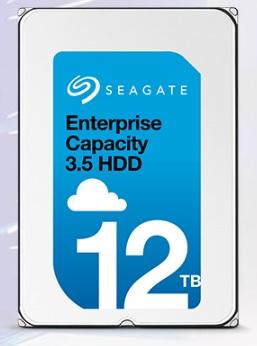 Immagine frontale del disco rigido Enterprise Capacity 3.5 HDD da 12 TB di Seagate Technology