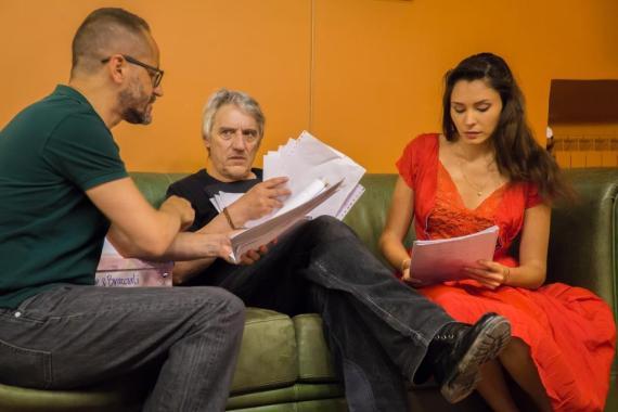 rilettura del copione con Massimo, Mimmo e Prescillia