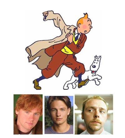 Possibile cast per Tintin -  the movie