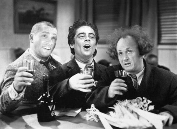 Sean Penn Benicio Del Toro Jim Carrey in Three Stogees