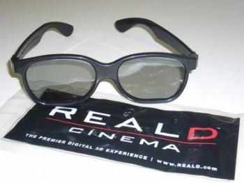 Occhialetti 3D della RealD