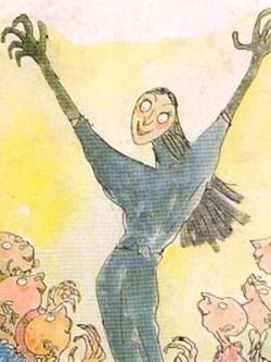 Le streghe - la strega suprema illustrazione di Quentin Blake