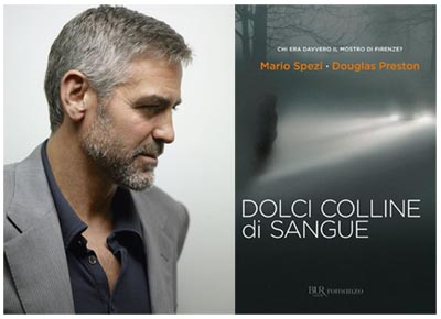 George Clooney in THE MONSTER OF FLORENCE, film tratto da Dolci colline di sangue