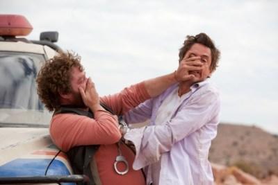 Robert Downey Jr, e Zach Galifianakis in Parto col folle di Todd Phillips