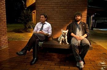 Zach Galifianakis e Robert Downey Jr. in Parto col folle di Todd Phillips