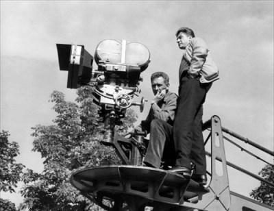 Alain Resnais con Sacha Vierny sul set di L'Année Dernière à Marienbad (1961)