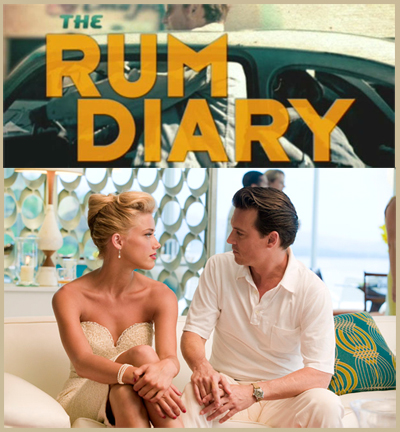 Paul Kemp (Johnny Depp) & Chenault (Amber Heard) THE RUM DIARY trailer