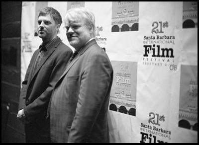 Paul Thomas Anderson con Philip Seymour Hoffman