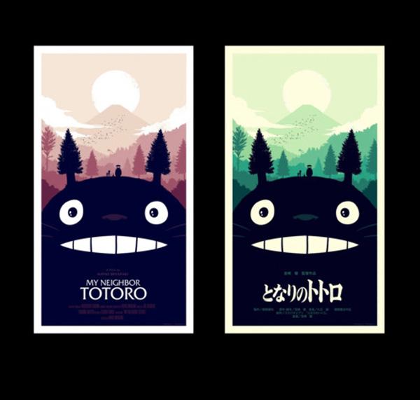 Totoro - le locandine Mondo di Olly Moss