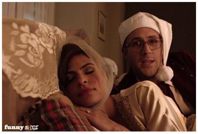 Eva Mendes & Ryan Gosling nel corto natalizio di Funny or Die