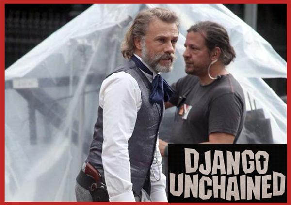 Django Unchained: il cacciatore di taglie Christoph Waltz, prima foto dal set