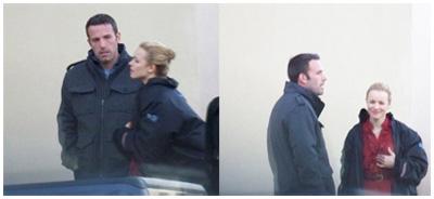 Ben Affleck con Rachel McAdams sul set di TO THE WONDER