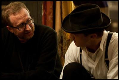 James Gray con Jeremy Renner sul set di NIGHTINGALE
