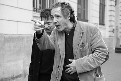 Arnaud Desplechin con Mathieu Amalric sul set di Un conte de Noël