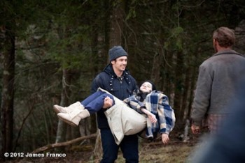 James Franco sul set di CHILD OF GOD, da Cormac McCarthy