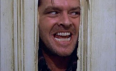 jack nicholson in Shining di Stanley Kubrick