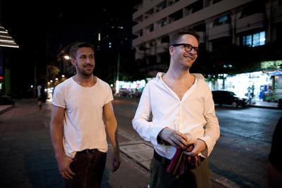 Ryan Gosling e Nicolas Winding Refn sul set di Only God Forgives