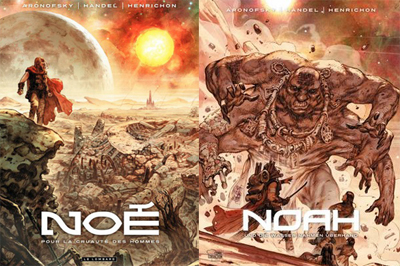 Le copertine del graphic novel Noè, di Darren Aronofsky e Niko Henrichon
