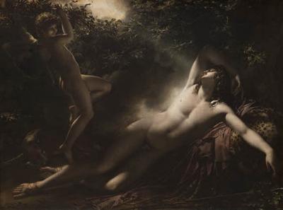 Le Sommeil d'Endymion - Anne Louis Girodet Trioson. Louvre