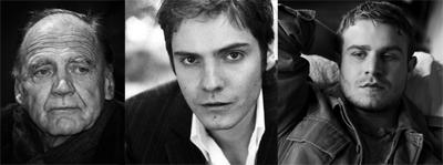 Bruno Ganz, Daniel Bruhl, Brady Corbet in SILS MARIA di Olivier Assayas