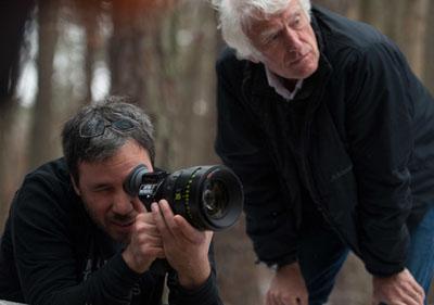 Il regista Denis Villeneuve e il direttore della fotografia Roger Deakins - PRISONERS, set