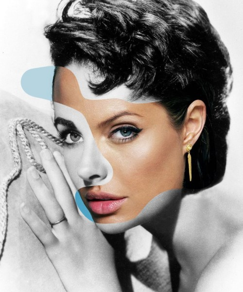 Elizabeth Taylor - Angelina Jolie in Iconatomy di George Chamoun