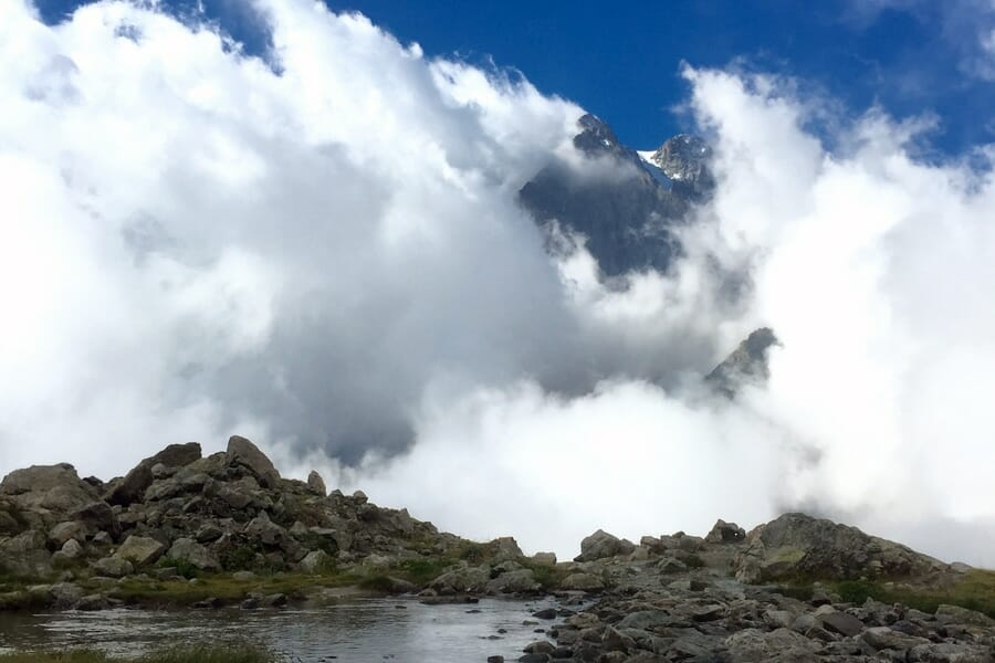 La randonnée vers le Refuge du Glacier Blanc