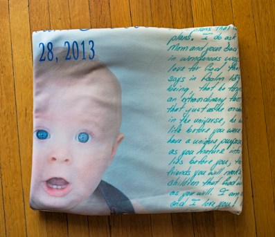 Personalized photo memory blanket