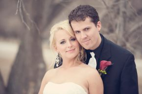 Melissa Mellor and her husband on thier wedding day in Saskatoon, SK