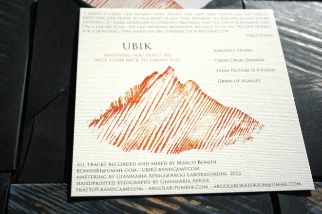 """UBIK (Marco Bonini) """"Anything you don't see will come back to haunt you"""" (CD)"""