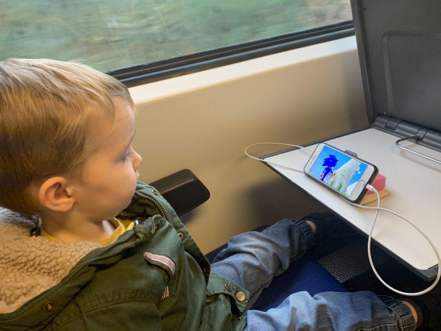 Mijn leven in foto's #116 - Thomas eerste keer in de trein