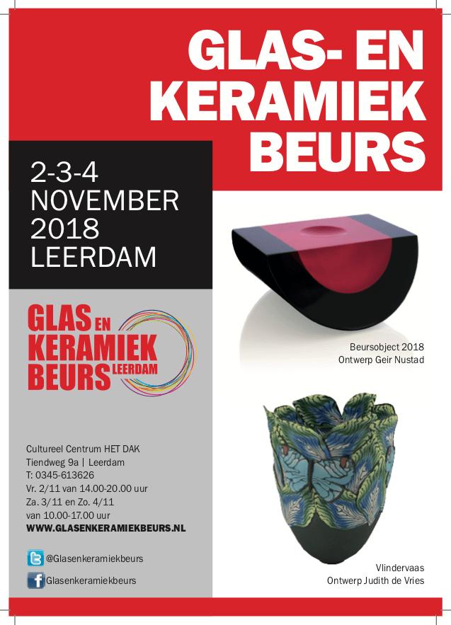 Glas- en keramiek beurs Leerdam 2 tot en met 4 november